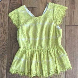 Anthro peplum blouse